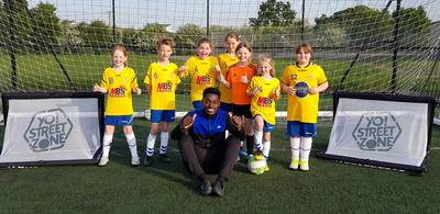 football skills group photo with rising stars youth fc girls whitstable