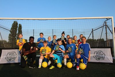 football skills coaching with rising stars FC girls team in Whitstable Kent
