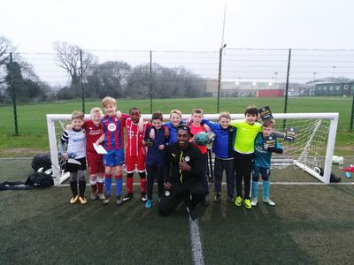 football skills coaching with chatham town youth fc kent